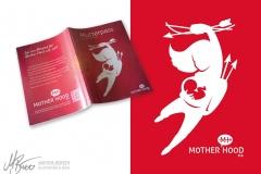 Logogestaltung und Mutterpasshülle für Mother Hood e.V.