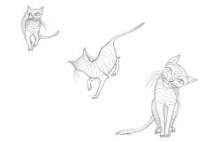 Aus dem Skizzenbuch -  Katze1