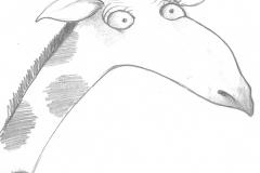 Aus dem Skizzenbuch - Giraffe