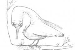 Aus dem Skizzenbuch - Vogel03