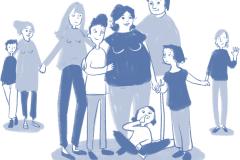 Familie und Geburt - Patchwork-Großfamilie