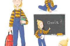 Character Sheet, Schoolgirl - Schulmädchen