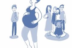 Familie und Geburt - Single-Mum