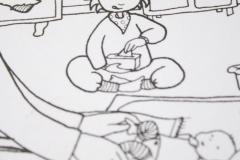 """Illustration, Text & Buchgestaltung """"Babyflitterwochen . Jojos erste Tage mit Baby Fine"""""""