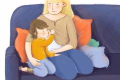 Stillen von Kleinkindern