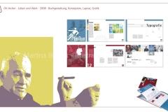 """Grafikdesign - Buchgestaltung """"Otl Aicher - Leben und Werk"""" (Semesterarbeit)"""