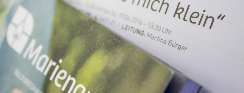 Veranstaltungen 2016 - Martina Bürger - Haus Mariengrund