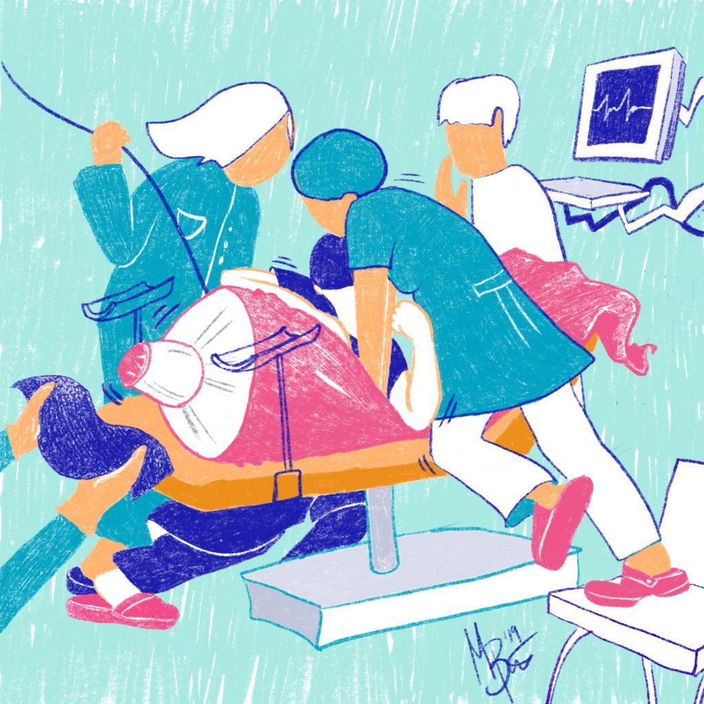 """Illustration von Martina Bürger """"Ausgequetscht"""""""
