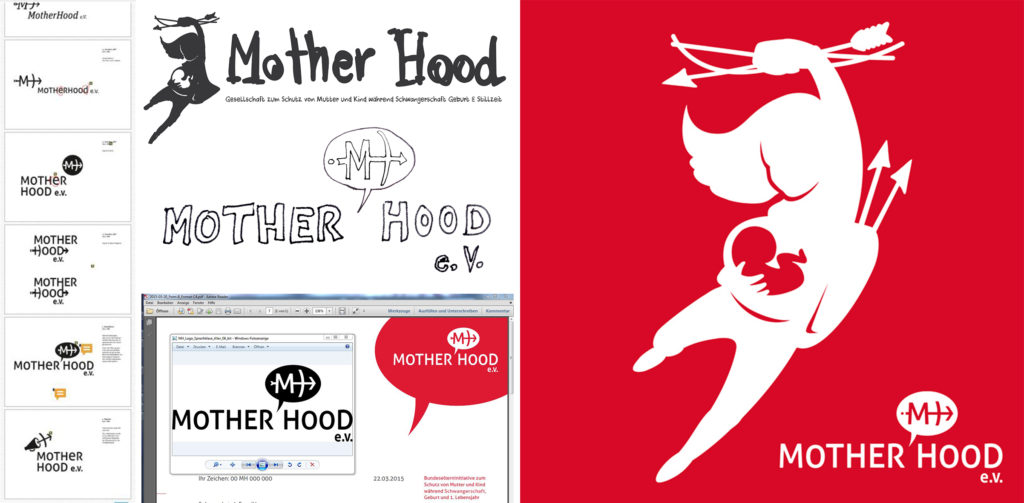 Entwicklungsprozess des Mother Hood Logos