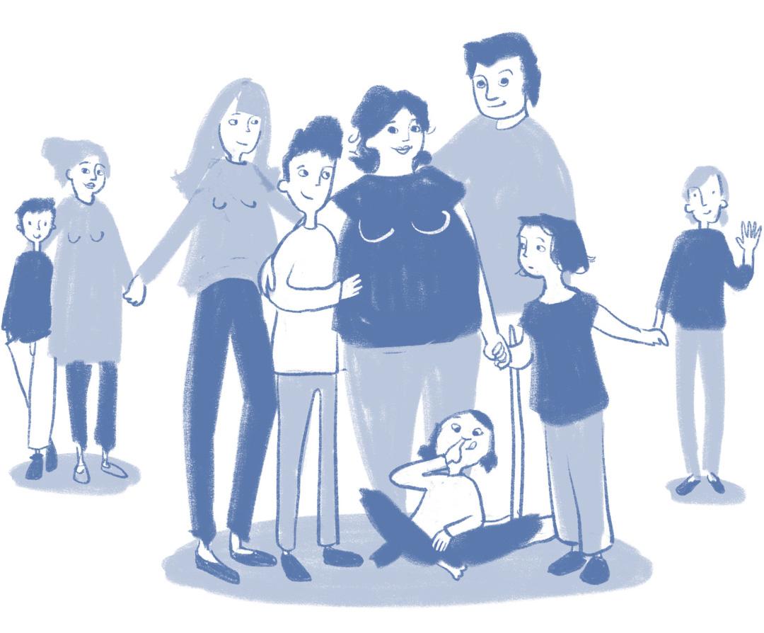 """freie Arbeit, Serie zum Thema """"Familie"""" (Kinderbuch, Kindersachbuch, Editorial u.ä.)"""